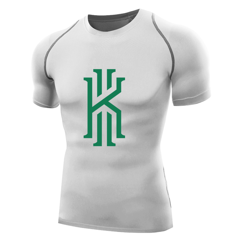 another chance 327de 7b1ec US $15.54 16% OFF|kyrie irving boston jersey t shirt compression shirt men  Short sleeves kyrie irving t shirts topswear kyrie 2 3 irving 11 tshirt-in  ...