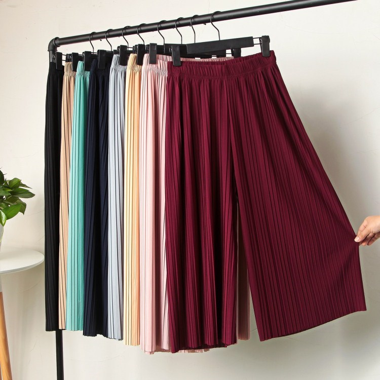Women High Waist   Wide     Leg     Pants   Casual Trousers Ladies Pink Female   Pants   Thin Long Loose Summer   Pants