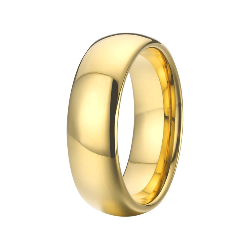 Anniversary Alliances Wedding Band Couple Rings 468mm Gold Color Fashion Jewelry Tungsten carbide Rings for women (10)