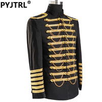 Jacket Pants Black And Gold Embroidery Groom Royal Suit Customized For Men Wedding Dress Suits