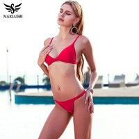 NAKIAEOI 2017 New Sexy Micro Bikinis Women Swimsuit Swimwear Halter Brazilian Bikini Set Beach Bathing Suits