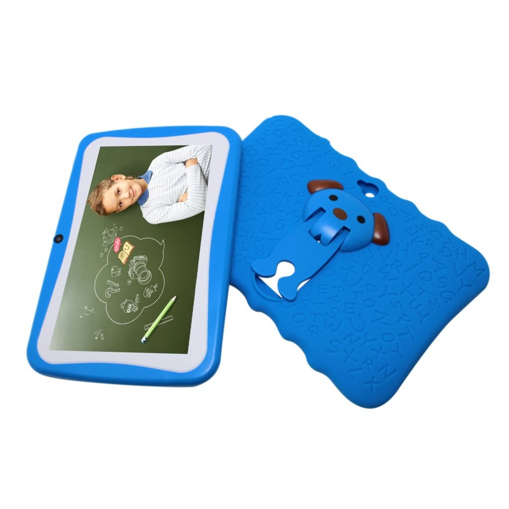 Kids 7inch Tablet PC Android Tablet 512MB 4G A33 Quad Core 1024x600 Dual Camera Education Tools Fine Gift For Children US Plug