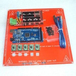 Image 1 - 1 sztuk heatbed + 1 sztuk Mega 2560 R3 + 1 sztuk RAMPS 1.4 kontroler + 5 sztuk A4988 moduł napędu krokowego dla zestaw do drukarki 3D Reprap