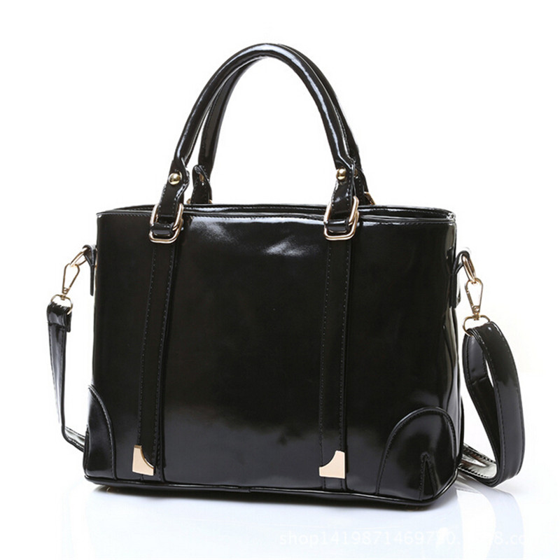 new fashion handbags wholesale handbags Korean version of the big oil skin bag messenger bag a generation of fat 5 color options the other side of the road new extended version cd