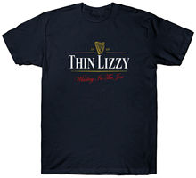 THIN LIZZY GUINNESS T SHIRT FUNNY RETRO VINTAGE TOP New Shirts Funny Tops Tee Unisex free shipping