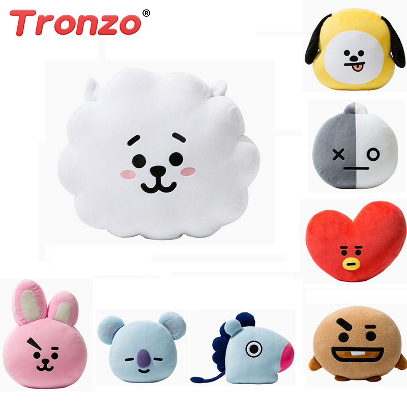 Tronzo Bangtan Boys BTS bt21 Kawaii Pillow Plush Toy cushion TATA VAN COOKY CHIMMY SHOOKY KOYA RJ MANG Gift For Children 20cm kpop bangtan boys bts bt21 plush toys doll tata van cooky chimmy shooky koya mang plush stuffed toys for children kids gift