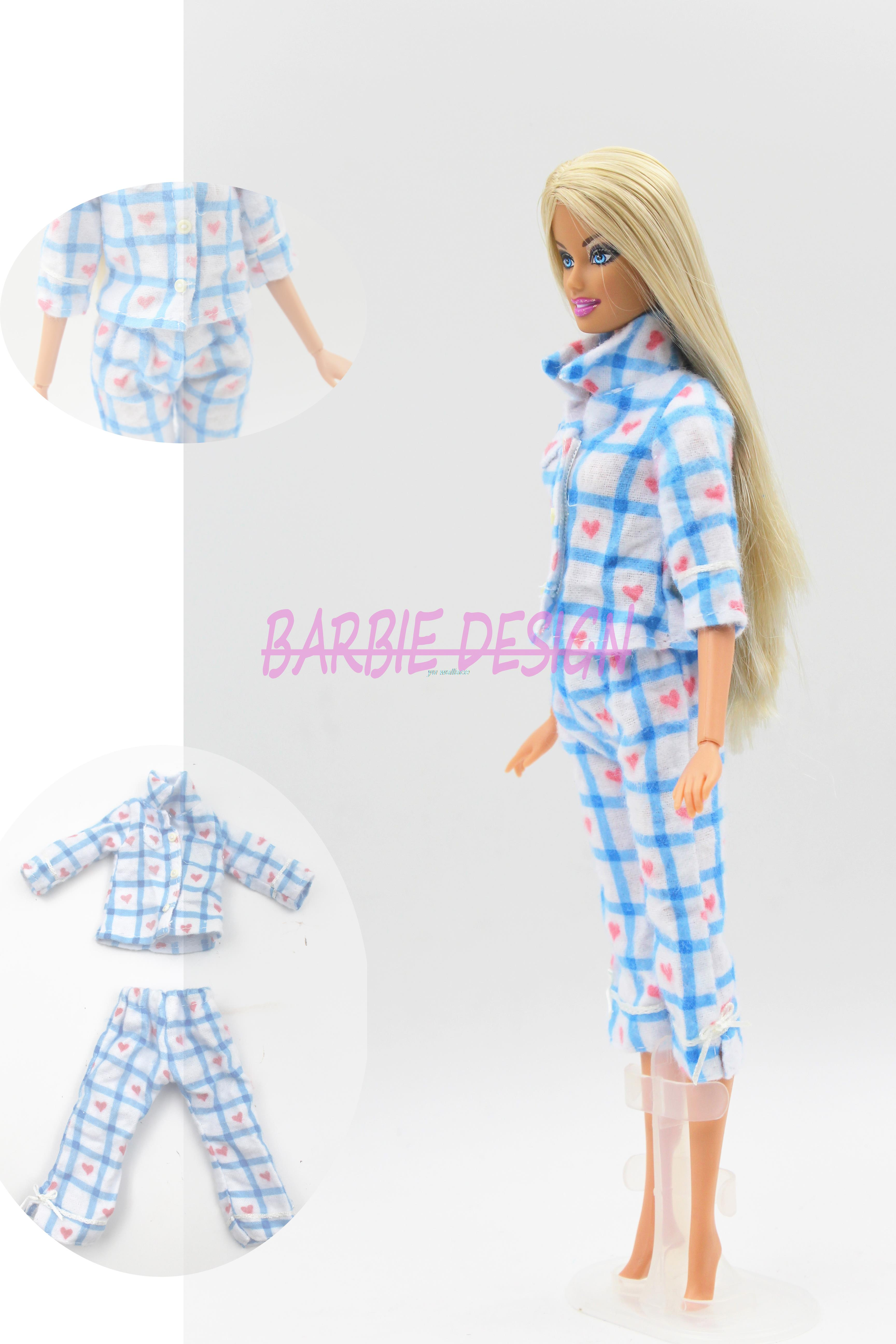 Free Delivery 1set=1 Shirt + 1 Pants Trousers Doll Garments Set Spring Autumn Doll Clothes For Barbie