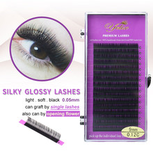 37740250515 1 Box 0.05/0.25 Highly Soft and Exquisite Individual False Eyelash Eye Lashes  Mink Fake Eyelashes Extension Black Private Label