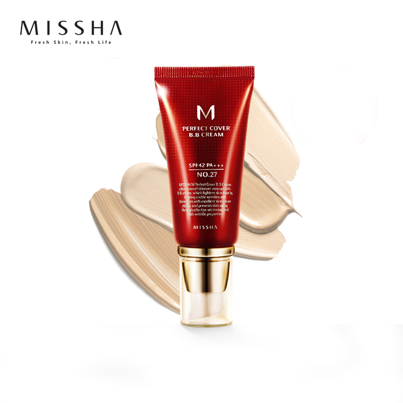 Original Korea Cosmetics MISSHA M Perfect Cover BB Cream 50ml SPF42 PA+++ (#13, #21, #23, #27, #31) Foundation Makeup CC Cream ...