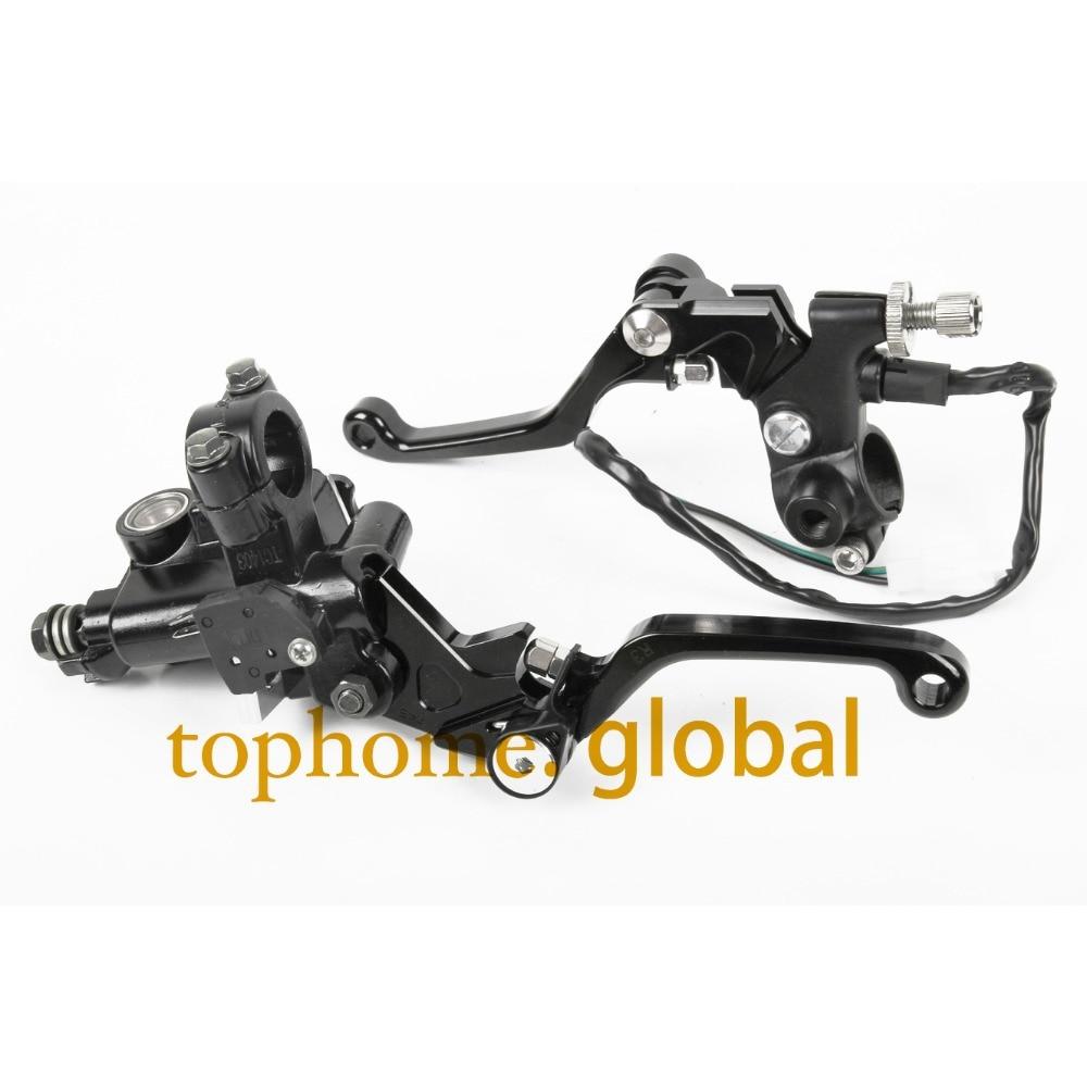 7/8 New CNC Brake Master Cylinder Pressure Switch Reservoir Levers Dirt Pit Bike Set Red For KTM 65XC 2008-2009 Black