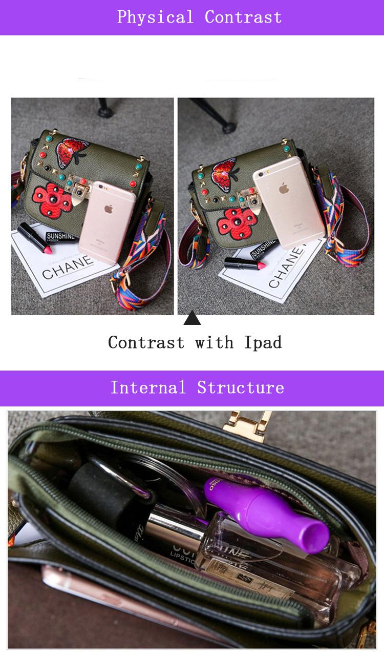 SAJOSE Women Small Hand Bag Flowers Designer Leather Shoulder Woman's Fashion Messenger Lady Crossbody Luxury Handbag Women Bags 8