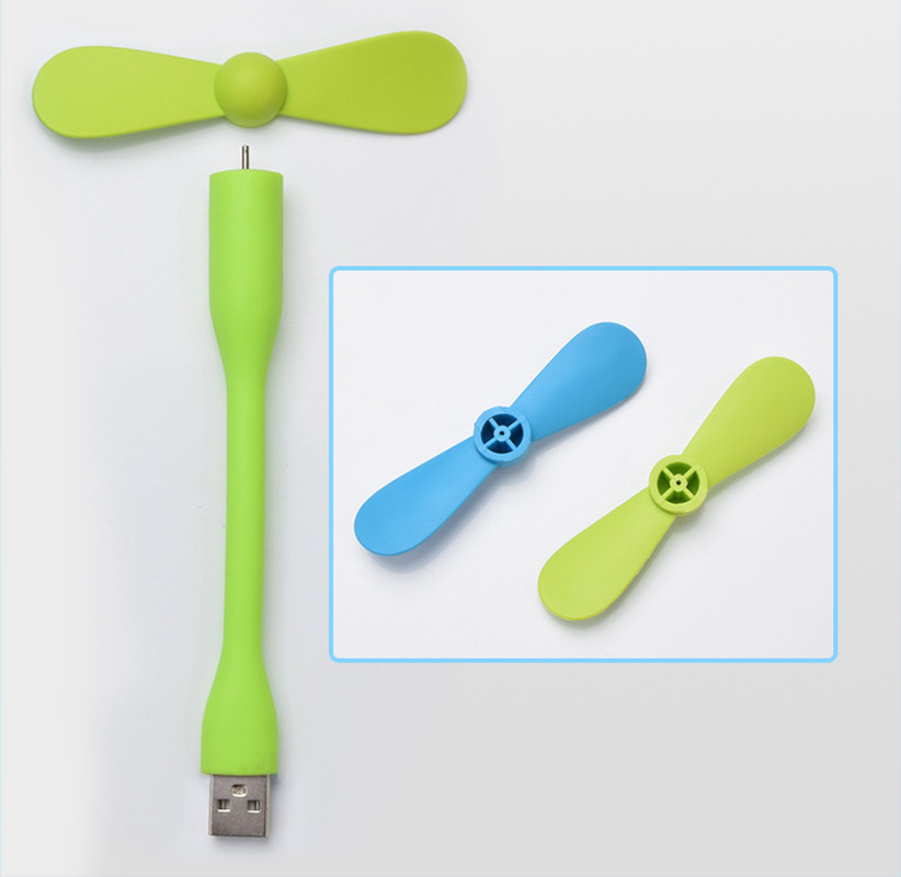 Cute Portable Flexible Mini USB Fan Bendable removable USB Gadgets Low power for Powerbank for PC for laptop