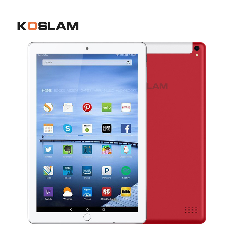 "KOSLAM 10 Inch 3G Android Tablet PC 10"" IPS Screen Dual SIM Card Phone Call Phablet Quad Core 1G RAM 16GB ROM WIFI GPS Playstore"