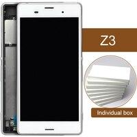 5 יחידות Digitizer עצרת מסך מגע LCD החלפה עבור Sony Z3 עם מסגרת L55T L55 L55U D6653 D6603 D6633 באיכות AAA תצוגת