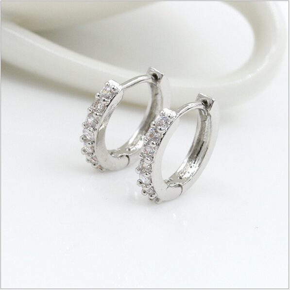 New Silver Round Earrings Special Jewelry Rhinestones Hoop For Women S Earring Rings Studs Ornaments In From