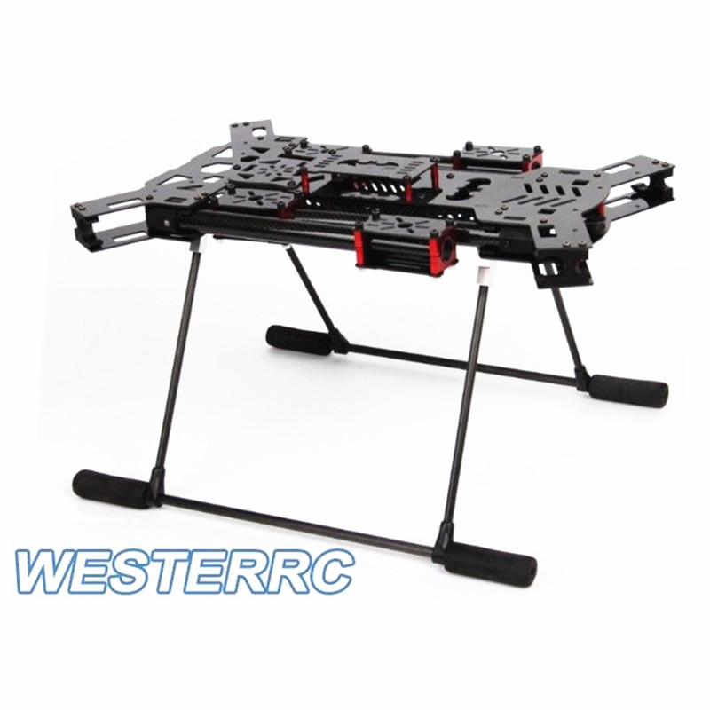 H4 Folding Quadcopter Carbon Fiber Frame & Landing Gear 680 Alien FPV For DIY drone diy fpv aerial quadcopter drone alien fq700 umbrella folding frame 25mm ultra thick aluminum arm support x8 mode