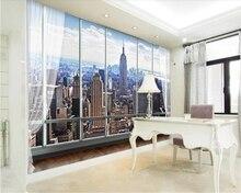 beibehang papel de parede Fantastic high-rise buildings 3  stereoscopic windows TV background wall wallpaper behang hudas beauty