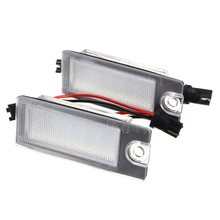2Pcs Car 18 LED License Plate Light White Number Plate Lamp For Volvo S80 99-06 V70 XC70 S60 XC90 Accessories