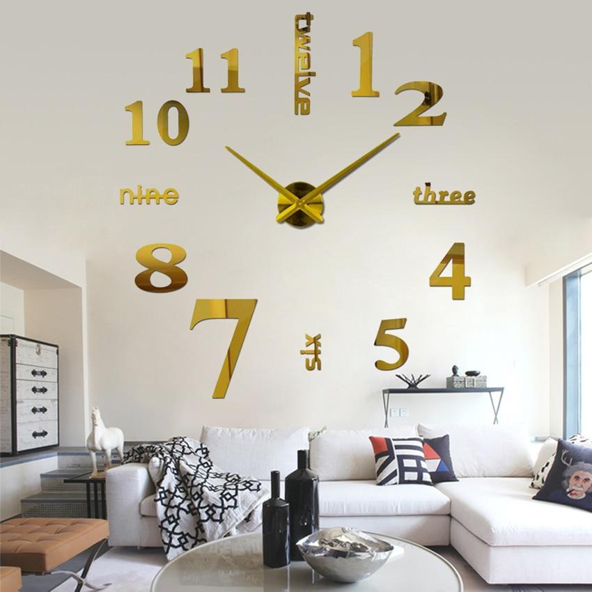 2018 супер голям diy стенен часовник - Декор за дома - Снимка 2