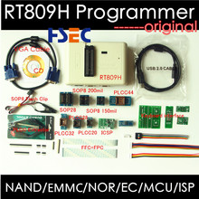 Free shipping Newest Universal RT809H EMMC Nand FLASH Programmer+20 Items SOP8 flash Adapter EMMC NAND NOR better than RT809F