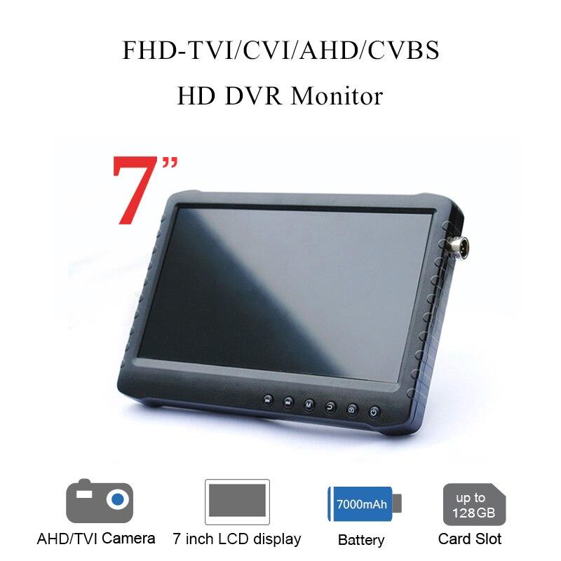 Ao ar livre tela de visualização completa 7 polegada AHD DVR gravador de monitor (HD TVI/CVI/AHD/CVBS analógico 4 em 1)