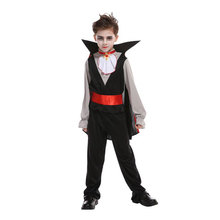 Kids Child Evil Prince Vampire Costumes for Boys Halloween Purim Carnival Masquerade Mardi Gras Outfit B-0167