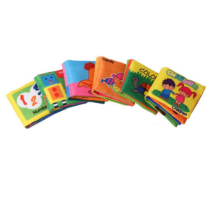 Toys For Boys Book : Soft cloth baby boys girls books rustle sound infant