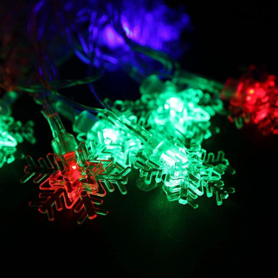 FGHGF 2018 Christmas Fairy Party String Lights Waterproof Color Snow Outdoor Courtyard Holiday Gifts Children 5.5 M 28LED Bulbs