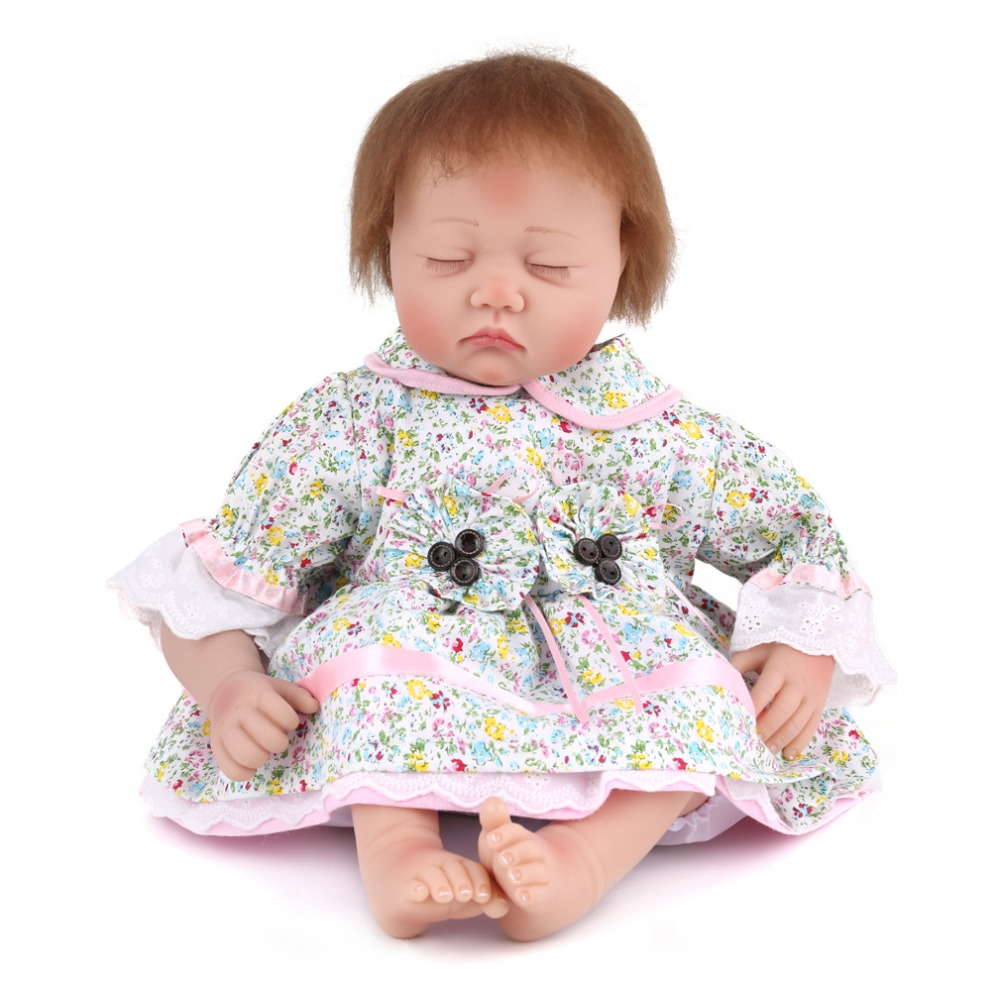 New 55CM Full Silicone Reborn Baby Dolls Gender Boy Vinly Sleeping Babies Lifelike Realistic Baby Doll Can Bath Toys 55cm 22inches silicone doll reborn babies dolls handmade realistic lifelike baby toys cute collectible boy