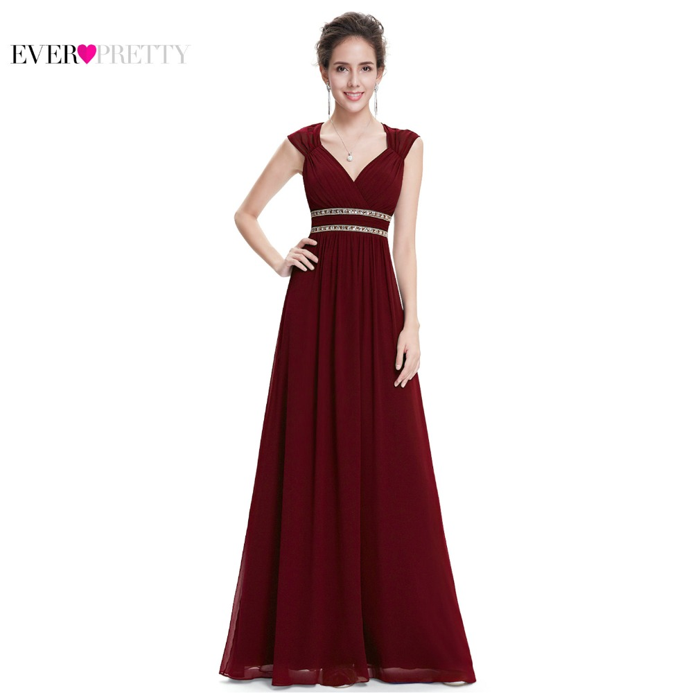 Ever Pretty Evening Dresses HE08697 Women S Elegant Navy Blue And White V Neck Sleeveless Empire