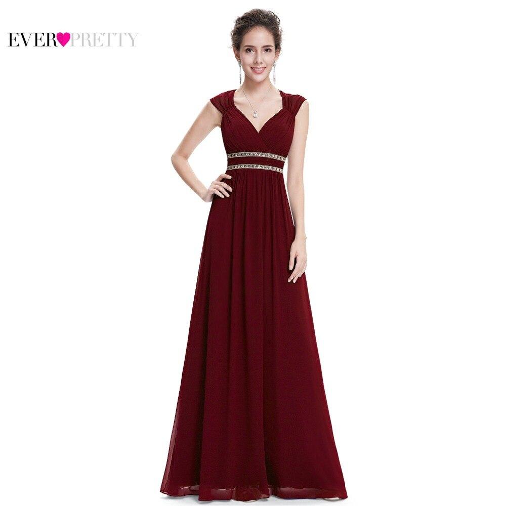 Robes de soirée formelles longue EP08697 Ever Pretty femmes élégant bleu marine blanc col en V sans manches Empire robes de soirée 2019 nouveau - 2