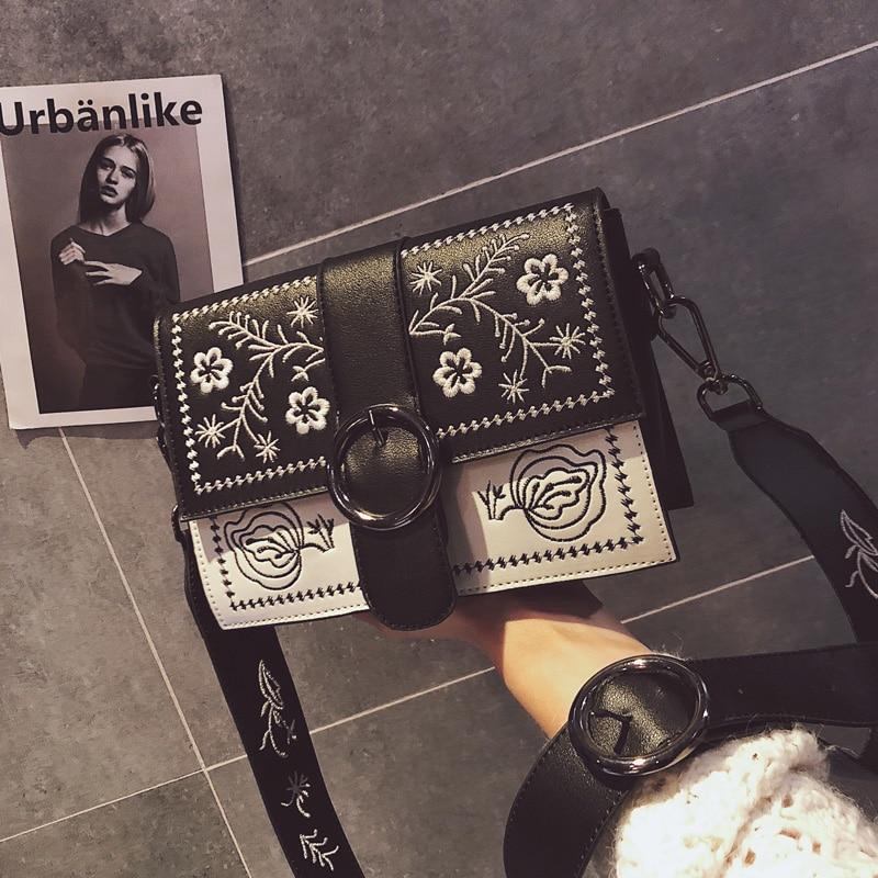 Hansomfy | Вышивка сумка Винтаж из искусственной кожи crossshoulder Повседневное знакомства Для женщин сумка - 4