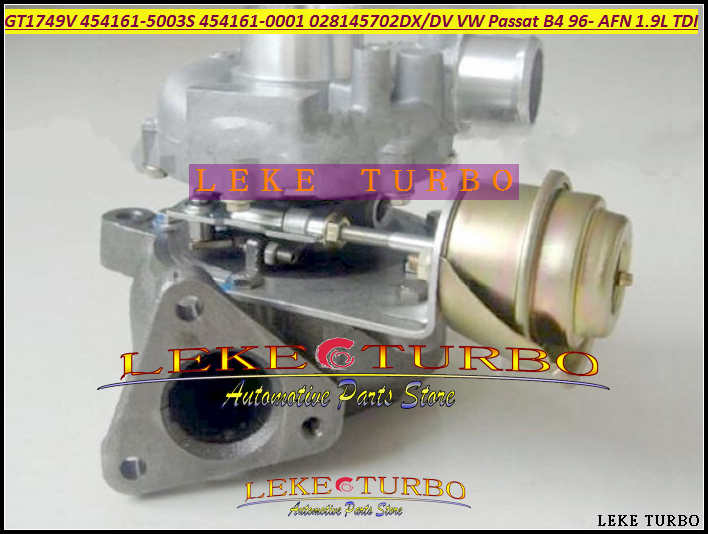 Free Ship GT1744V GT1749V 454161 454161-0003 028145702DX Turbocharger Turbo For Volkswagen VW Passat B4 1996- AFN 1.9L TDI 110KW turbo wastegate actuator gt1749v 454231 454231 5007s 028145702h for audi a4 b5 b6 a6 vw passat b5 avb bke ahh afn avg 1 9l tdi
