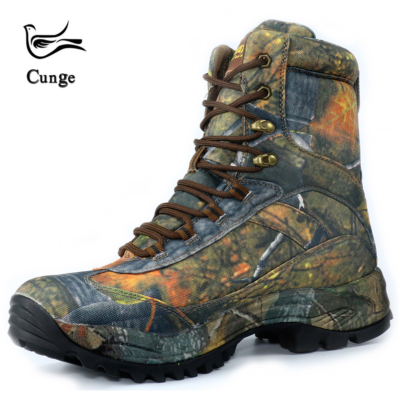 New Men Fashion Army Desert Boots Military Tactical Lace Up Canvas Camouflage Boots Anti skid Combat Work Shoes    3