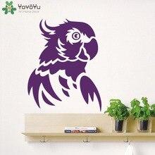 Wild Animal Wall Decal Parrot Sticker For Kids Room Interior Design Removable Livingroom Decor Nursery Mural SY420