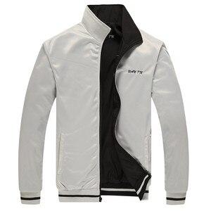 Image 5 - Erkek ceket yeni bahar sonbahar spor giysileri standı yaka spor çift yan aşınma palto erkek eşofman artı boyutu 5XL 6XL