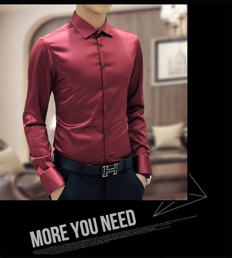 HTB1A0.WNXXXXXbtapXXq6xXFXXXB - Plus Size 5XL New Men's Luxury Shirts Wedding Dress Long Sleeve Shirt Silk Tuxedo Shirt Men Mercerized Cotton Shirt