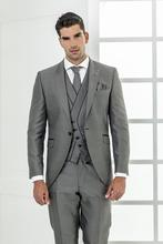 Custom Made Gray Wedding Suits Groom Suits Groomsman Suits Men Formal Tuxedos 3 Piece