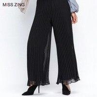 Fashion Women Pleated Pants Skirt Chiffon Long Skirt Princess Elegant Modest Muslim Bottoms Ankle Length Party Islamic Clothing
