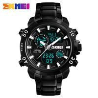 Luxury Brand SKMEI Men Fashion Sport Watches Men's Quartz Watch Digital Analog Clock Man Full Steel Wristwatch relogio masculino