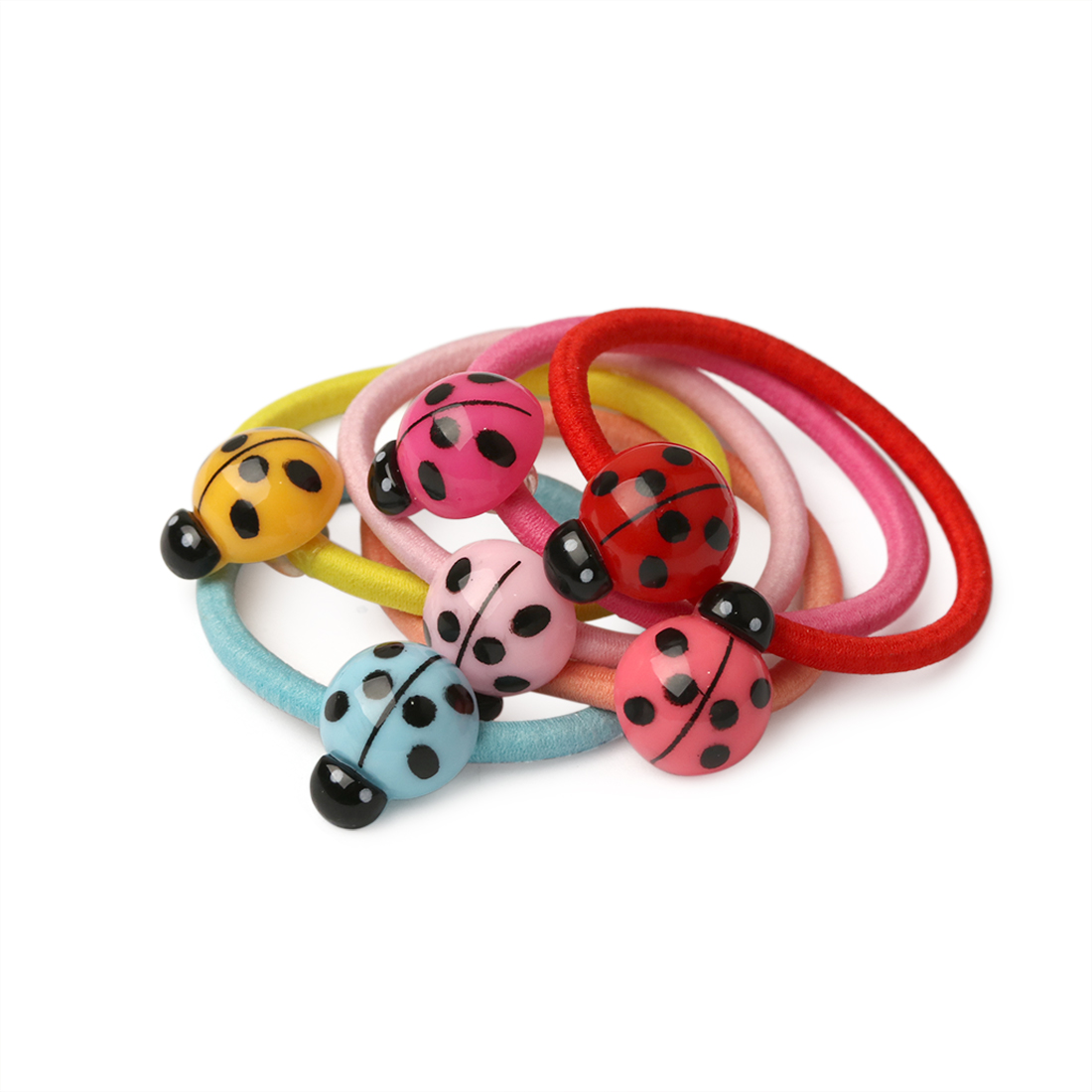 baby hair headbands accessories elastic girl ladybug pink black