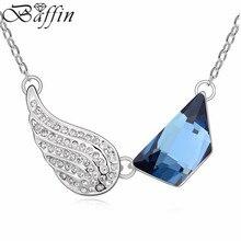 Nuevo retro crystal choker collar llamativo vendimia de la joyería hecho con los elementos de swarovski del ala para mujeres joyas