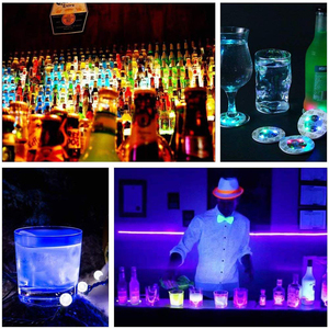Image 5 - 1Pcs Super bright LED Flash Bottle Light Glorifier Wine Bottle Led Sticker Cup Mat Coaster for Party Wedding Bar Decoration