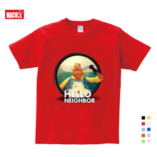 Kids 3-12Years Tiny Cottons 2019 Summer The Hello Neighbor T-shirt Shirts Boys Shirt Girl Teenage Clothes Tee 3T-9T