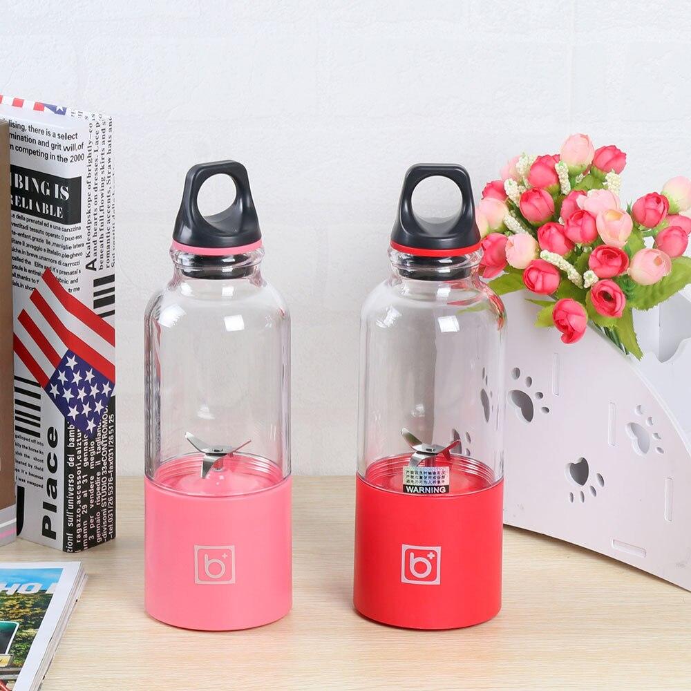 500 ml Portatile Spremiagrumi Tazza USB Ricaricabile Elettrico Automatico di Frutta Verdura Tools Maker Cup Blender Mixer Bottiglia Di Succo Di Frutta E Caffè