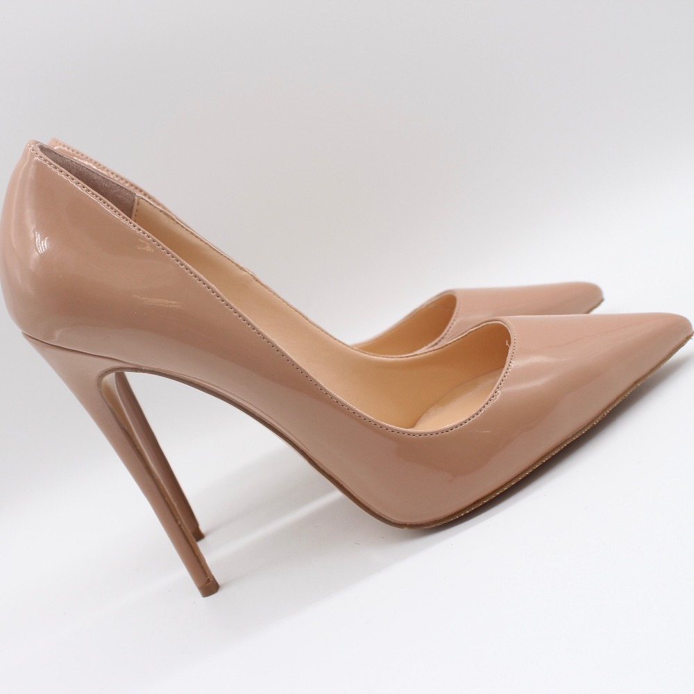 Free shipping fashion women Pumps lady Nude paten leather Pointy toe high heels shoes size33-43 12cm 10cm 8cm Stiletto heeled Free shipping fashion women Pumps lady Nude paten leather Pointy toe high heels shoes size33-43 12cm 10cm 8cm Stiletto heeled