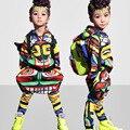 Niños adultos Maya danza trajes Unisex Jamaica Totem niños Hip Hop harem pantalones y sudadera trajes Active twinset