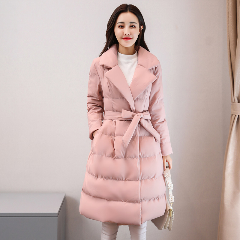 Veste Épaisse Le Femmes Pink caramel Nouveau Down Manteaux Moyen pea Green Mode Long Parkas Manteau Y809 Hiver Colour Chaud De Vers Tnlnzhyn Coton 2019 Bas wqXFRaIt