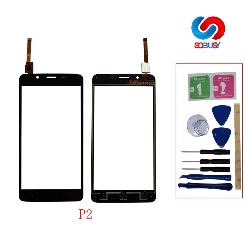 5.5 ''Tela de Toque GlassFor Blackview P2 Digitador Lente de Vidro Do Painel Sensor de Toque Do Telefone Móvel Tela TP Ferramentas + Free adesiva lcd