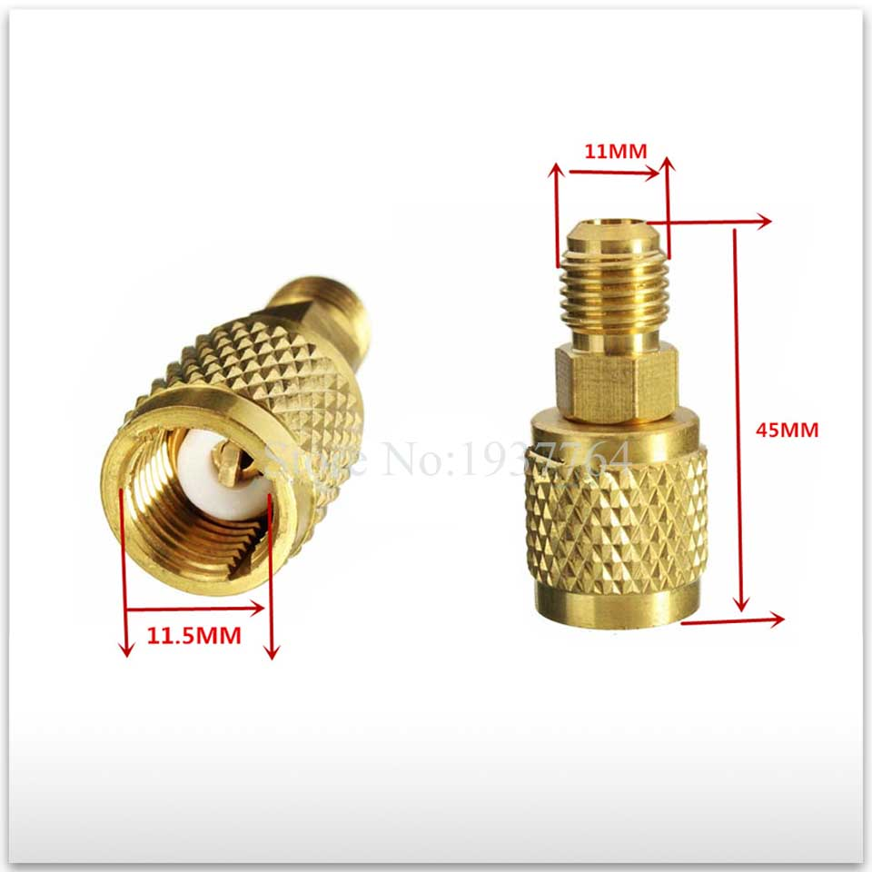 2PCS/lot new High Quality for Air conditioning 1/4 Male SAE x 5/16 Female Low-Loss SAE Straight Adapter for R410a 2pcs lot new air refrigeration charging adapter refrigerant retention control valve air conditioning charging valve r410a 5 16